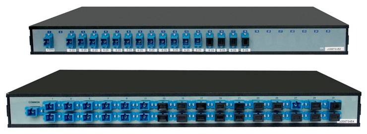 Rack Mount PLC Chassis Splitters for PON and FTTX Fiber Network Soluti